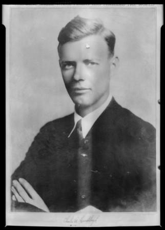 Lindbergh portrait, Southern California, 1927