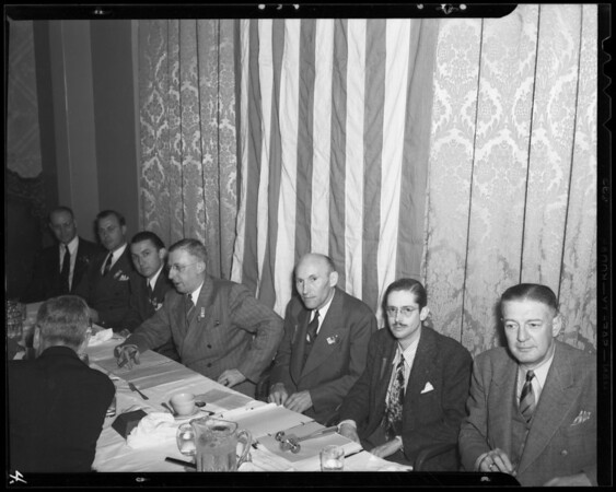 Banquet and small groups, 6714 Hollywood Boulevard, Los Angeles, CA, 1940