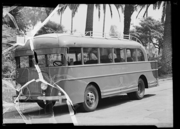 New bus made by Crown Body Corporation, Southern California, 1936