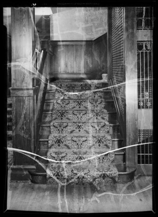 3rd floor steps at Westmoore Hotel, Mr. Shafer owner & assured, 1004 West 7th Street, Los Angeles, CA, 1936