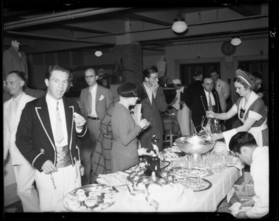 Luncheon, opening of new basement store, Southern California, 1935