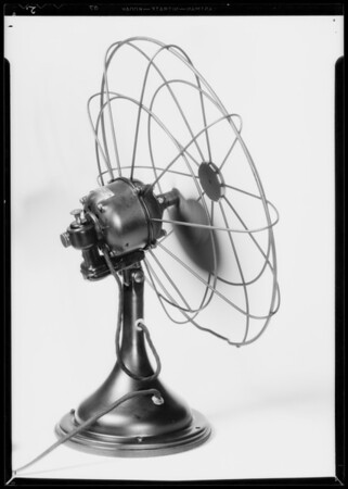 Shirt & electric fan, Southern California, 1935