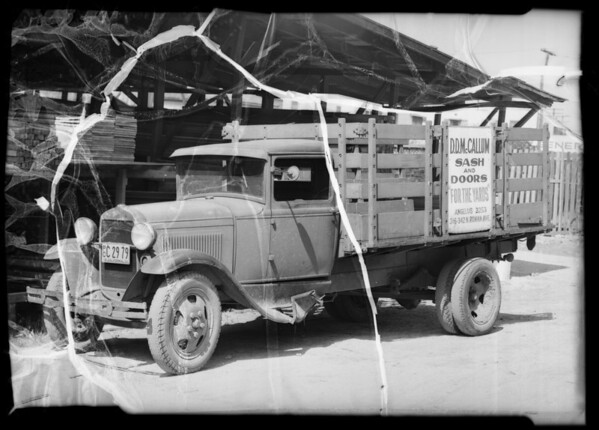 McCallum Lumber Co. truck, Southern California, 1936