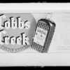 Cobbs Creek Whiskey for lantern slides, Southern California, 1935