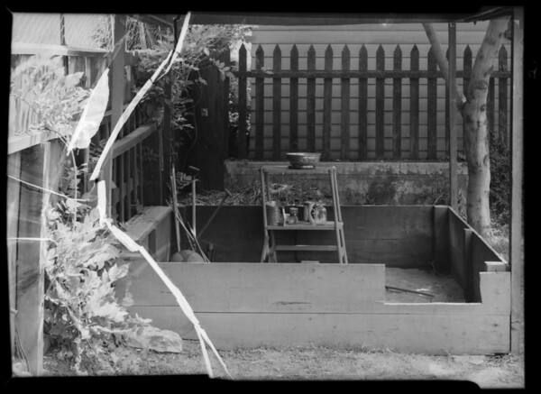 Back fence at 438 South Kingsley Drive, Los Angeles, CA, 1936