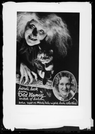 """""""Old Nancy"""" for postcards, Southern California, 1935"""