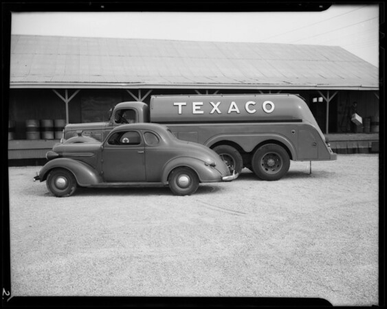 Texaco truck at Wilmington Sales Yard, 1420 Alameda Street, Wilmington, CA