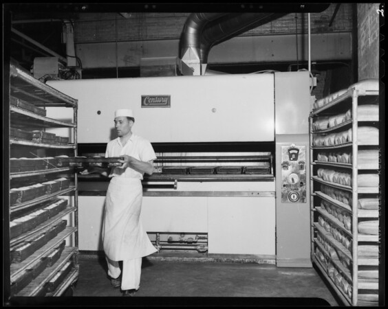 Supreme Bakery oven, 405 North San Fernando Road, Los Angeles, CA, 1940