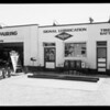 Grease rack, station at South Gale Drive and Wilshire Boulevard, Beverly Hills, CA, 1935