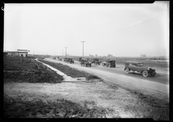Leimert Park auto traffic, Pico Boulevard Center Tract, Los Angeles, CA, 1927