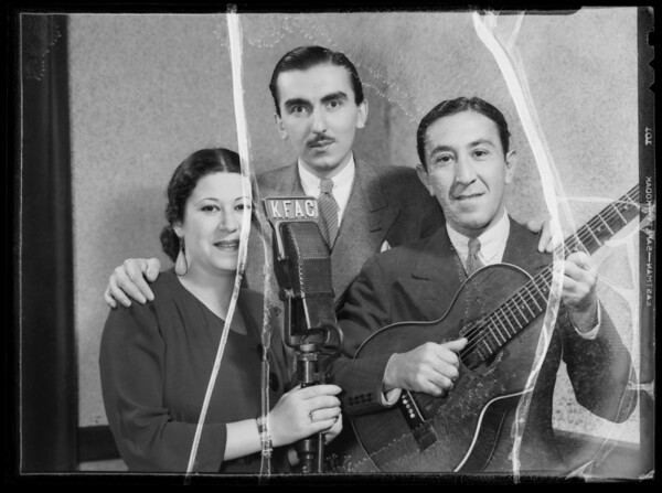 Trio at K.F.A.C., Southern California, 1935