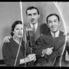 Trio at K.F.A.C., Southern California, 1935