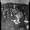 Lecture & group at Harris & Frank, Los Angeles, CA,  1940