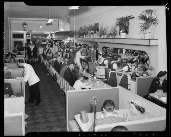 Interior of new cafe, Southern California, 1940