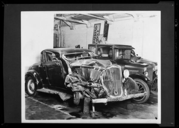 Car wreck, Royal Indemnity, Southern California, 1935