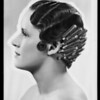 Photo of hair curler & copies of ladies heads, Southern California, 1936