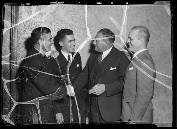 Eddy, Naye, Graft, & Garvin at Mona Lisa, Southern California, 1936
