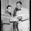 Ricardo Cortez, Al Jolson, Vic Young, etc, at Shell Chateau, Southern California, 1935