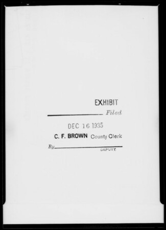 County Clerk rubber stamp, Southern California, 1935