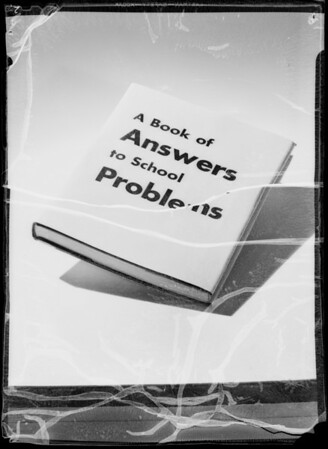 "Merchandise for college folders, ""Answer to School Questions"", Southern California, 1935"