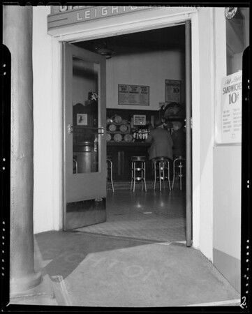 Leighton's Cafe, 200 North Main Street, Los Angeles, CA, 1940