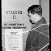 Plaques and officials, KFI, Southern California, 1936