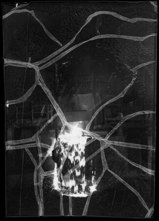 Pouring hot steel into molds, Southern California, 1936