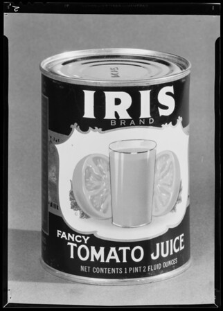 Iris cans, Southern California, 1940