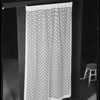 Curtains at studio, Southern California, 1936