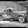 Damage to Packard car & Buick coupe, Los Angeles, CA, 1940
