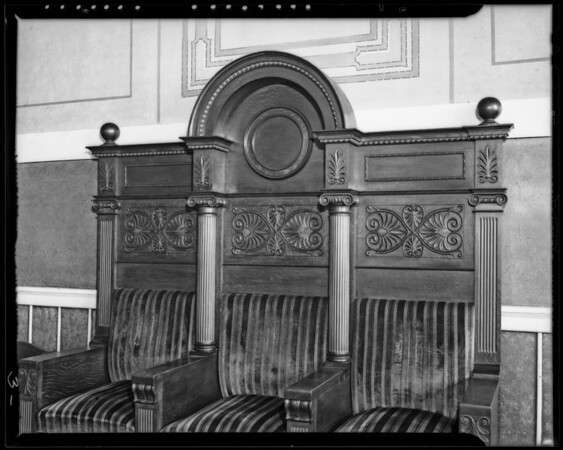 Lodge room, Homesteaders Life Insurance building,  845 South Figueroa Street, Los Angeles, CA, 1940