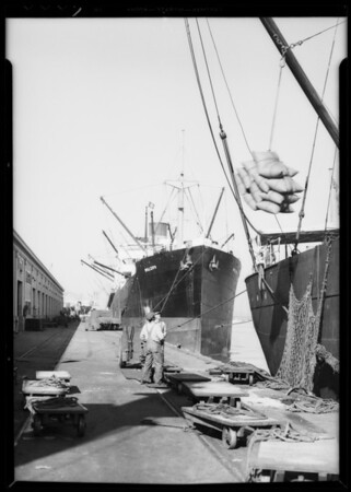 Harbor activity, Southern California, 1935