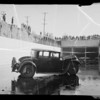 Packard in drainage ditch, Southern California, 1935