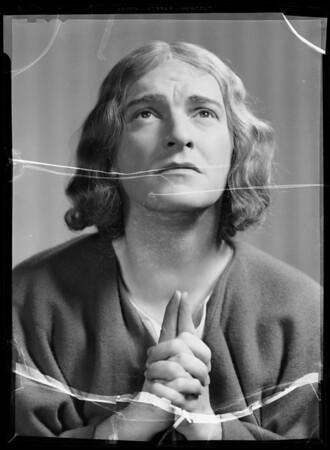 Portrait of Ted Osborne, radio character, Southern California, 1935