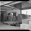 Purex warehouse and executives, Southern California, 1940