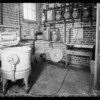 Interior of basement laundry room, Southern California, 1935