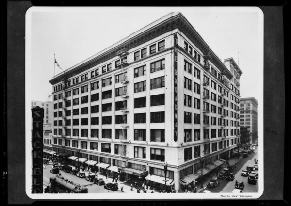 Exterior of building, Broadway Department Store, Los Angeles, CA, 1935