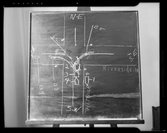 Blackboard diagram, Southern California, 1940