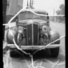 Damage on 1936 DeSoto sedan, Primo Tincin owner and assured, Southern California, 1936