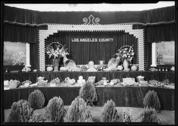 Los Angeles County booth at Riverside Fair, Riverside, CA, 1926