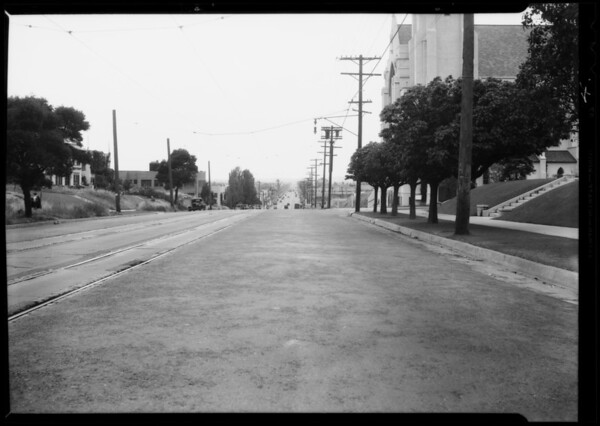 Intersection of 11th Avenue and West Adams Boulevard, Los Angeles, CA, 1935