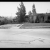 Wrecked truck, intersection at Inglewood, CA, 1935