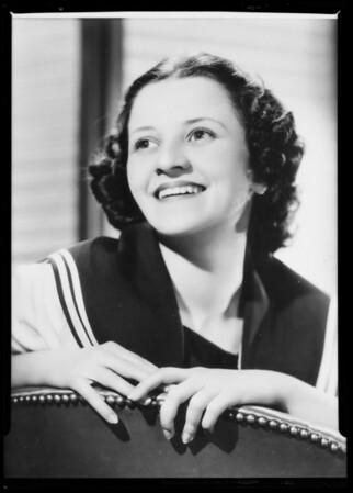 Portrait, Jean Dickenson, Southern California, 1936