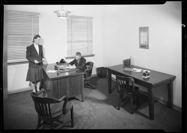 Interior of new building, Southern California, 1940