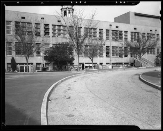 Scene at Woodrow Wilson Junior High School, Glendale, CA, 1940