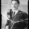Mr. Bennett, announcer, Southern California, 1935
