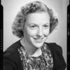 Miss Foshay, portrait, Southern California, 1940