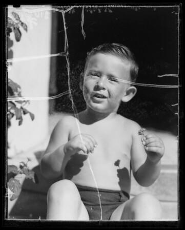 Baby's head, Southern California, 1935