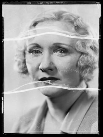 Portrait, Martha Wentworth, Southern California, 1935