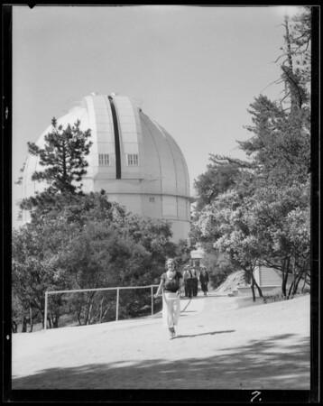 Mt. Wilson Observatory & yuccas, Los Angeles, CA, 1935